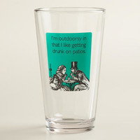 Outdoorsy Someecards Pint Glass