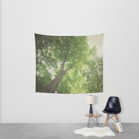 Green Tree Wall Tapestry by Pure Nature Photos