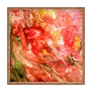 Rosie Brown Abstract Red Yupo Square Tray