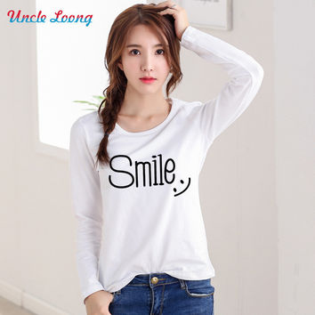 Summer Valentine Day Gifts for Women Long Sleeve Romantic Smile Casual Lover T-Shirt Gift Ideas
