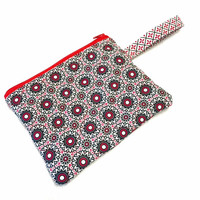 Zippered Wristlet, RED