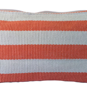 Natural Dye Cotton Striped Pencil Pouch