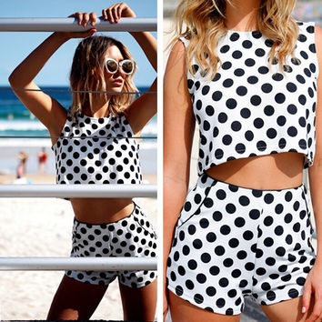 FASHION CASUAL DOT TWO-PIECE
