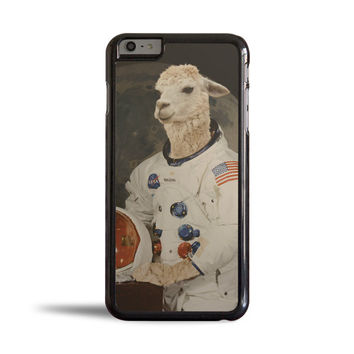Funny Astronaut Llama in Space Suit Case for Apple iPhone 6 Plus