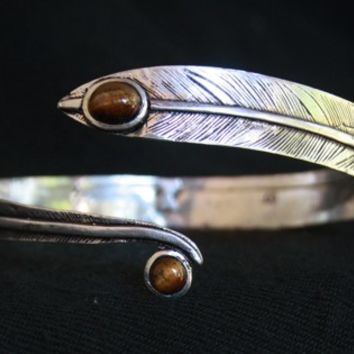 Arm Cuff-Armlet Bracelet,Upper arm Cuff,Tiger eye Stone cuff