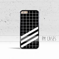 Grid Stripes Case Cover for Apple iPhone 4 4s 5 5s 5c 6 6s SE Plus & iPod Touch