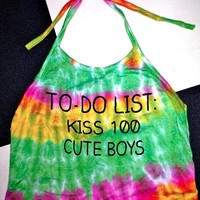 SWEET LORD O'MIGHTY! TIEDYE TO DO LIST HALTER