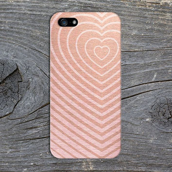 Rose Gold x Pink Wood Heart Phone Case for iPhone 6 6 Plus iPhone 5 5s 5c 4 4s Samsung Galaxy s6 s5 s4 & s3 and Note 5 4 3 2