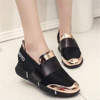 2018 Summer Women Casual Shoes Female Platform Sneakers Slip On Women Tenis Feminino Casual Ladies Shoes Flats AX87