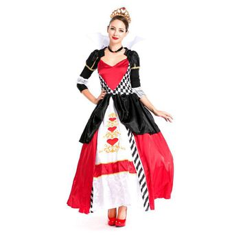 Purim carnival costume adult women Alice in wonderland red poker