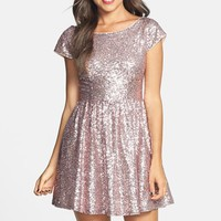 Love, Nickie Lew Sequin Skater Dress (Juniors)