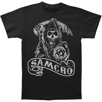 Sons Of Anarchy Men's  SOA 2 Sided T-shirt Black