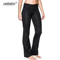 Women's Retro 70s Vintage Compression Yoga Fitness Exercise Bell Bottoms Gaucho Pants Long Tights Flared Trousers