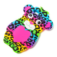 Silicone Rainbow Leopard Cover for iPhone 5 and 5s