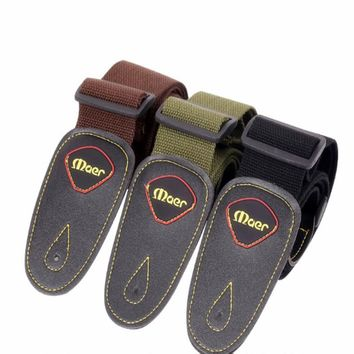 Acoustic Guitar Strap Leather Electric Bass Guitar Belt Black Brown Green Strap Guitar Musical Instruments