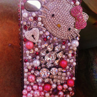Hello kitty, blinged out iPhone 4/4s case