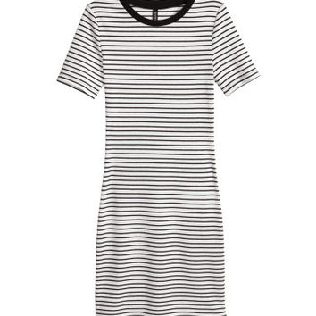 H&M Ribbed Jersey Dress $17.49