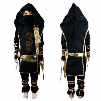 CREY6F 2017 fashion Christmas Gifts Boy Cosplay Costume Characters New Fantasia Martial Ninja Grim Reaper Halloween Costume Stage Suits