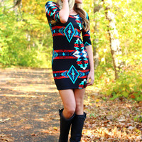 Light Up the Night Sweater Dress