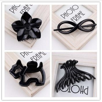 women Hair Clip fashion Hair Claw black Hairpin hair accessories for women simple hair crab clamp