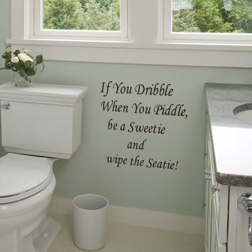 "Characters ""If You Dribble"" PVC Removable Wall Decor Bathroom Wall Stickers SM6"
