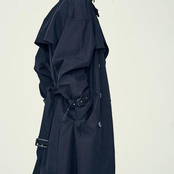 [LARTIGENT] LE OVER TRENCH COAT (BLACK)