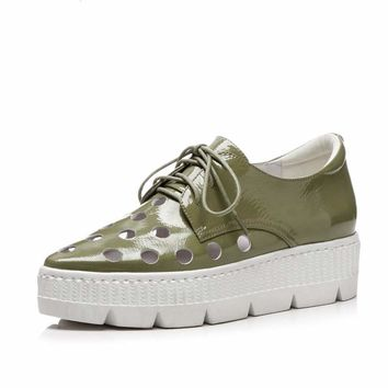 Suummer hollow design fashion lace up cozy  vulcanized shoes