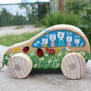 Wooden Toys - Wooden baby toys - Personalized Baby gift - Wooden car toy - Wood baby toy - Natural wood toy - Wood kids toy - Gifts for kids