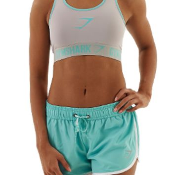 Gymshark Form Sports Bra - Cool Grey/Mint Green - Sports Bra - Womens