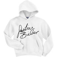 Justin Bieber Signature Hooded Sweatshirt Preorder by SoulClothes