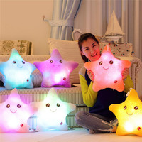 Color Smile Star Flashing Pillow Glow LED