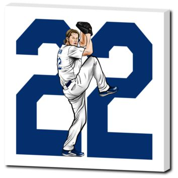 "Clayton Kershaw ""Mr. Cy Young"" Canvas Print 20""X20"""