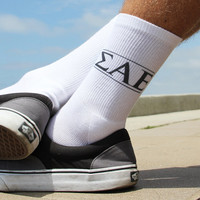 Sigma Alpha Epsilon Fraternity Socks - Men's Crew Socks