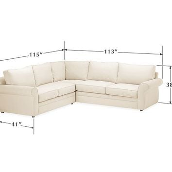 Pearce Upholstered 2-Piece L-Shape Sectional