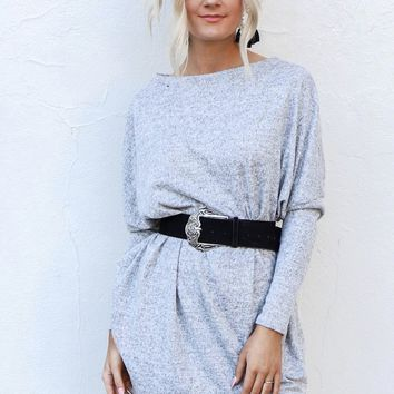 Promise Kept Heather Gray Sweatshirt Dress