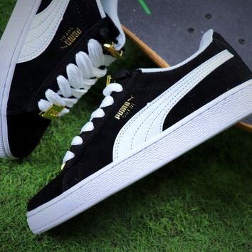 Puma Suede Classic BBOY Fabulous 50th Black White Shoes - Best Online Sale