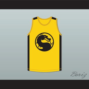Bruce Leroy Green 85 The Last Dragon Yellow Mortal Kombat Jersey