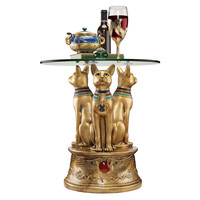 Park Avenue Collection Royal Golden Bastet Side Table