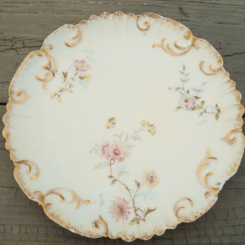 Vintage LS & S Limoges France Handpainted China Plate