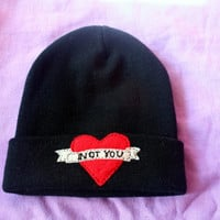Not You Tattoo Banner Beanie
