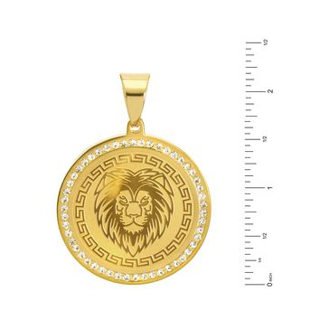 Jewelry Kay style Men's G / S Stainless Steel King Lion Medallion Pendant Chain Necklace SCP 469