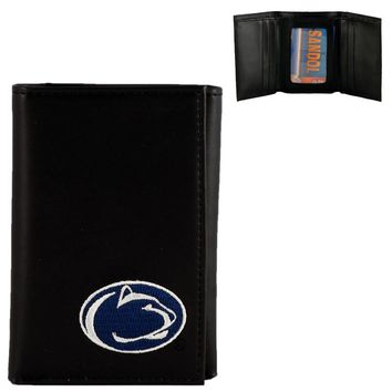 Penn State Nittany Lions Men's Designer Leather Tri-Fold Wallet