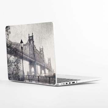 Black White City Laptop Skin