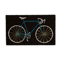 BIKE DOORMAT | bike doormat, bicycle, home decor, coconut fiber, coir, UncommonGoods | UncommonGoods