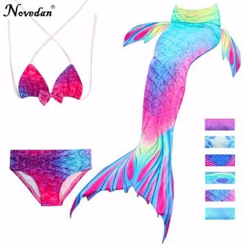 f026c86775 3Pcs/Set Children Mermaid Tail Swimsuit Kids Girls Swimwear Bath. * Special  Use: Costumes ...