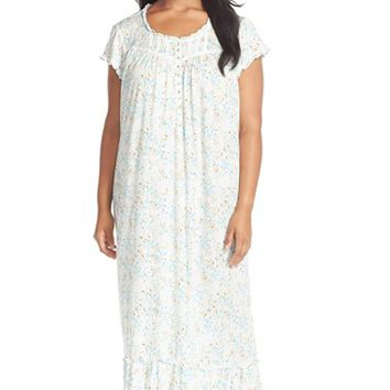 Plus Size Women's Eileen West 'Seaside' Print Ballet Nightgown,