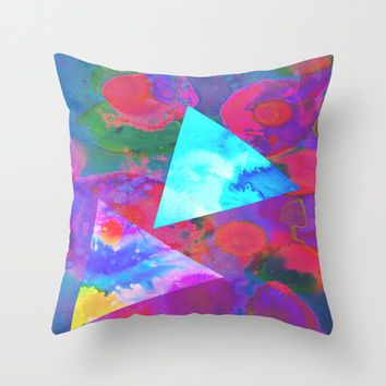 Acid Throw Pillow by DuckyB (Brandi)