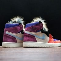 [ Free Shipping ]Jordan 1 Retro High Aleali May Court Luxe NRG BV2613-600 Running Shoes