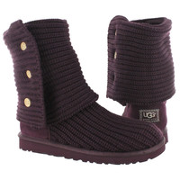 UGG Australia Women's CLASSIC CARDY port knit button boots 12-5819-PORT