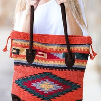 My Azteca Beach Tote Bag (Orange)